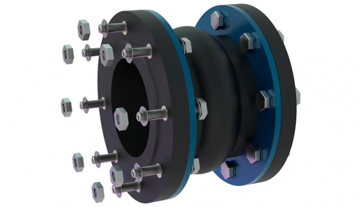 Flanged flexible coupling - 3